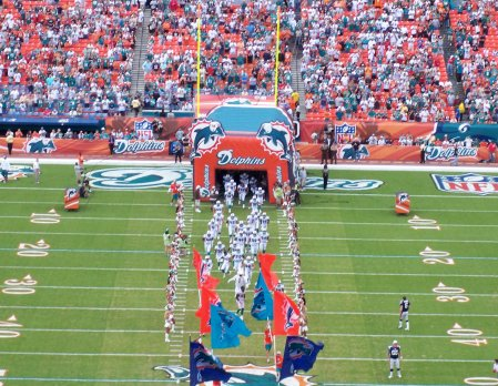 Pre-Game at Dolphin Stadium