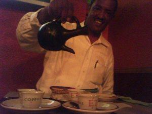 Ermias Gebremedhin Serves Us Ethiopian Coffee