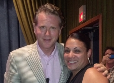 Olga (O.J.) Gets an Unexpected Hug and Kiss From Cary Elwes