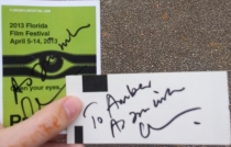 NumberOneEmber's Ticket and Press Pass Signed by Cary