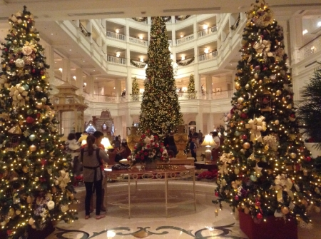 Heather Loves the Holiday Lights Around Disney's Grand Floridian Hotel