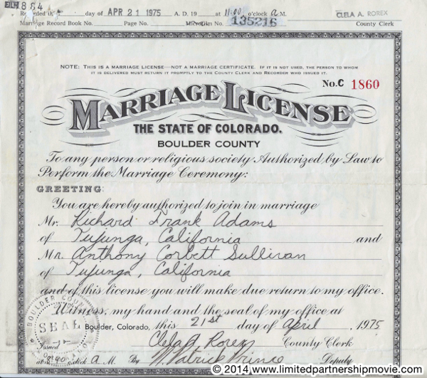 from Bodhi gay marriage license