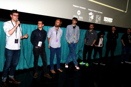 Several Filmmakers Speak with the Audience After the Shorts